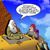 Cartoon: Smart phone (small) by toons tagged guru,hermit,wise,man,smart,phone,knowledge,mountaineering,alps