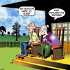 Cartoon: Snoring (small) by toons tagged farts,snoring,old,age,pensioners,rocking,chairs