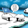 Cartoon: Solar bears (small) by toons tagged polar,bears,solar,power,panels