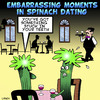 Cartoon: Spinach dating (small) by toons tagged spinach,dating,embarrassing,moments