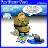 Cartoon: Suspicious husband (small) by toons tagged seals,unfaithful,monogamous,fishing,eskimos,igloo,suspicious,husband