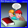 Cartoon: Texting (small) by toons tagged books,students,texts,sentences,learning