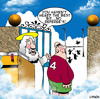 Cartoon: the game they play in heaven (small) by toons tagged rugby,football,heaven,god