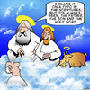 Cartoon: The holy goat (small) by toons tagged the,holy,ghost,goats,animals,in,name,of,father