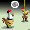 Cartoon: The other side (small) by toons tagged chicken,crossing,the,road,suicide,depression,bipolar,chickens,heaven