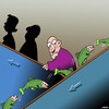 Cartoon: The Salmon run (small) by toons tagged salmon,escalators,run,fish,sporning
