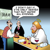 Cartoon: Thirsty Jesus (small) by toons tagged jesus,water,into,wine,miracles