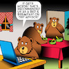 Cartoon: Trip advisor (small) by toons tagged three,bears,goldilocks,bed,and,breakfast,trip,advisor,fairy,tales,accommodation,online,reviews,animals
