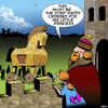 Cartoon: Trojan horse (small) by toons tagged trojan,horse,pony,princess,greeks,horses,royalty