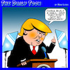 Cartoon: Trumps logic (small) by toons tagged donald,trump,mexican,wall,logic,common,sense,great,of,china,mexicans