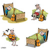 Cartoon: twang (small) by toons tagged music,guitar,sleeping,musical,notes,lazy,artist,band,concert,lessons