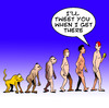 Cartoon: Tweet you (small) by toons tagged twitter tweets mobile phones cell evolution darwin theory apes monkeys communications mankind texting sms
