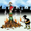 Cartoon: U R Hot (small) by toons tagged joan,of,arc,burnt,at,the,stake,hot