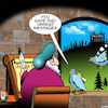 Cartoon: Unread messages (small) by toons tagged carrier,pigeons,mail,medieval,systems,homing,you,have,ancient,email