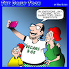 Cartoon: Vegans (small) by toons tagged vegan,vegetarian,soy,products,selfies,say,cheese,dairy,replacements
