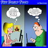 Cartoon: Voyeur (small) by toons tagged good,looking,computer,dating