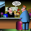 Cartoon: Wake up call (small) by toons tagged hotel,conciege,rooster,wake,up,call,guest,chickens
