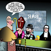 Cartoon: Walk into a bar (small) by toons tagged rabbi,classic,jokes,priest,nun,duck