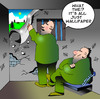 Cartoon: wallpaper (small) by toons tagged prison,prisoners,law,wallpaper,cell,justice,interior,design,windows,bars,maximum,security,the,tower