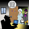 Cartoon: Way too much (small) by toons tagged google,the,mafia,gangsters,search,engines,computers