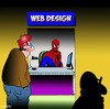 Cartoon: Web designer (small) by toons tagged spiderman,web,designer,spiders,search,engine,optimization,world,wide