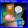 Cartoon: Weight loss clinic (small) by toons tagged piggy,bank,weight,loss,obesity,fat,loose,change,dieting,health