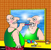 Cartoon: weird dental care (small) by toons tagged dentist,dental,care,dentures,cleaning,teeth,esher,toothpaste