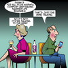 Cartoon: Wine talking (small) by toons tagged boring,marriage,wine,vino,talking,to