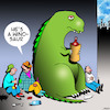 Cartoon: Wino (small) by toons tagged dinosaurs,wino,alcoholic,tramps,homeless,animals,prehistoric,stone,age