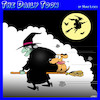 Cartoon: Witches (small) by toons tagged dogs,witches,broomsticks,halloween