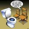 Cartoon: Worse off (small) by toons tagged toilet,cistern,less,fortunate,worst,job,furniture,chairs,seating