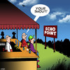 Cartoon: Your round (small) by toons tagged your,turn,to,buy,drink,round,shout,echo,point