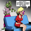 Cartoon: Zombie (small) by toons tagged zombies,boyfriend,brainy,girls