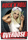 Cartoon: Overdose (small) by toonsucker tagged rock music girl drugs scene blonde sexy nurse medicine addiction