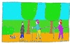 Cartoon: Nordic Stalking (small) by Müller tagged nordicwalking,stalking,spazieren,park,gassigehen