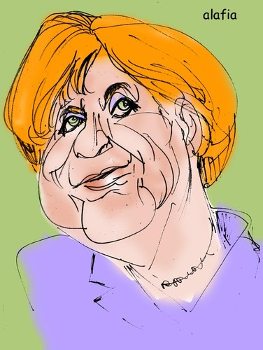 Cartoon: angela merkel (medium) by alafia47 tagged alafia