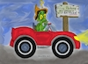 Cartoon: Confused (small) by Toonstalk tagged frogs,toads,towed,parking,penalty,ticketed,illegal,toad,confused,sign,posting,rules,funny,question,what,who,where,driver,auto,laugh