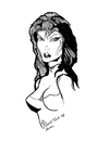 Cartoon: THE VAMP (small) by Toonstalk tagged vamp,sexy,lady,dark,mysterious,erotic