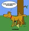 Cartoon: Facebaum (small) by tiefenbewohner tagged facebook twitter hund dog natur baum social network profil update