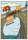 Cartoon: Bungee Jump (small) by schwoe tagged bungee jumping gefahr kitzel spannung extremsport