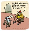 Cartoon: Scheibenbremsen (small) by schwoe tagged rollator gehhilfe senior alter gerontologie sportwagen angeber altersheim seniorenstift
