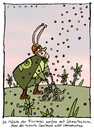 Cartoon: Snailman (small) by schwoe tagged rollator,schnecke,supermann,böse,finsternis