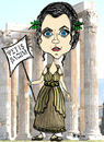Cartoon: Fatma Greek (small) by majezik tagged fatma,girik