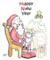 Cartoon: HAPPY NEW YEAR (small) by majezik tagged christmas,swine,flu
