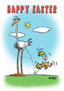 Cartoon: HAPPY EASTER 2012 (small) by piro tagged easter holiday birds eggs