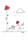 Cartoon: Sowing The Seed of Love (small) by piro tagged love,lovedevil,flowers