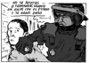 Cartoon: Golpe de Estado (small) by jrmora tagged policia,disturbios,agresion,actuacion,policial,manifestaciones,detencion