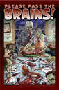 Cartoon: Please Pass the Brains! (small) by monsterzero tagged humor,zombies,brains
