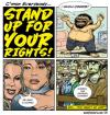 Cartoon: stand up! (small) by monsterzero tagged freedom human rights cookie zombies dames fat guys