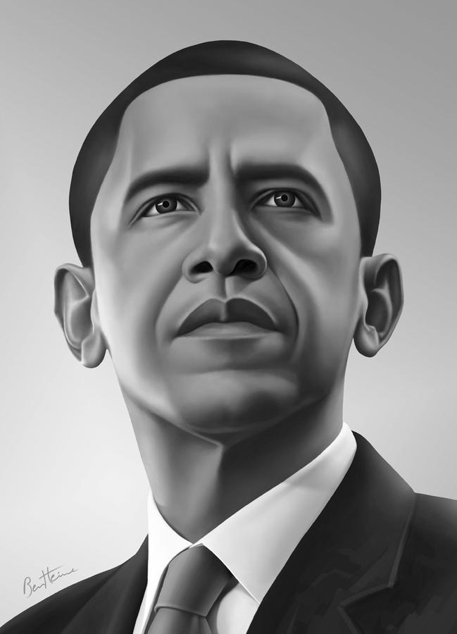 Dessin réaliste de Barack Obama